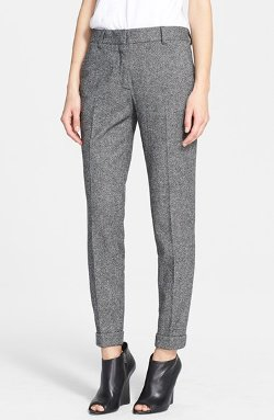 Burberry Brit - Tarnock Tweed Cuff Crop Pants