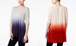Style & Co.  - Ombré Scoop-Neck High Low Top