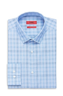 Boss Hugo Boss - Point Collar Cotton Plaid Dress Shirt