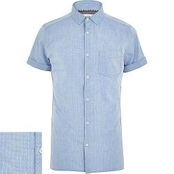 River Island - Chambray Short Sleeve Shirt