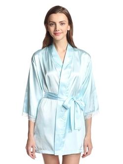 Aegean - Short Kimono Satin Robe