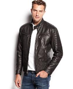 Michael Kors  - Quilted Washed Leather Jacket