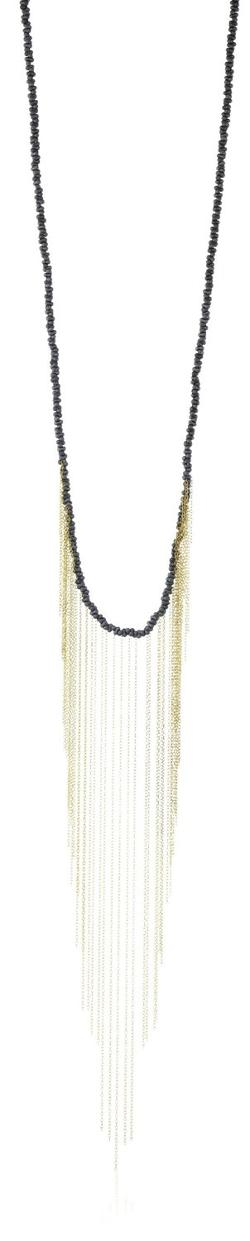 Erika Pena  - Sisu Midnight and Gold Loli Fringe Necklace