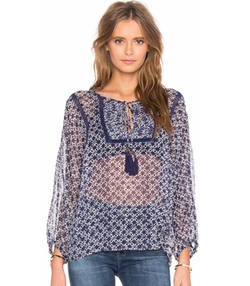 Twelfth Street By Cynthia Vincent - Tie Front Peasant Top