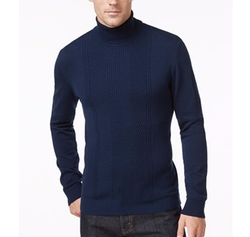 Alfani - Regular Fit Texture Turtleneck Sweater