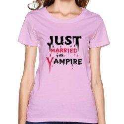 Women Tees  - Just Married Vampire T Shirt
