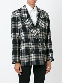 Yves Saint Laurent - Check Print Oversize Blazer