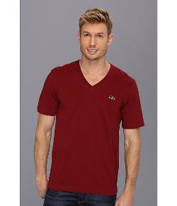 Lacoste  - L!VE Short Sleeve V-Neck T-Shirt