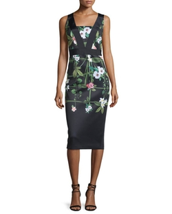 Ted Baker London - Kacied Secret Trellis-Print Dress