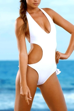 Orchid Label - Karen White Monokini Swimsuit