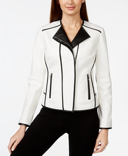 INC International Concept - Contrast Moto Jacket