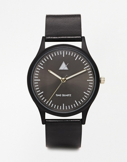 Asos - Black With Gold Hands Watch