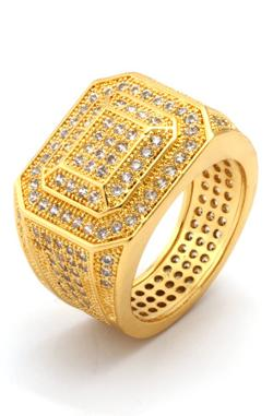 King Ice - 14K Gold Championship Style Ring