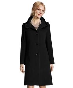 Cinzia Rocca - Fur Trimmed Stand Collar Coat