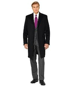 BROOKS BROTHERS  - Wool and Cashmere Classic Overcoat