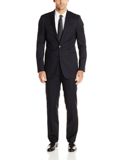 Calvin Klein  -  Button Side Vent Peak Lapel  Suit