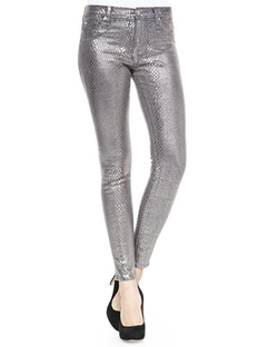 Hudson  - Nico Metallic Printed Skinny Pants