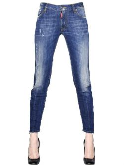 Dsquared2  - Super Slim Mid-rise Cotton Denim Jeans