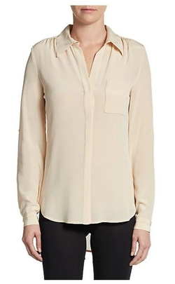Diane Von Furstenberg  - Lorelei Two Silk-Crepe Blouse
