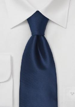 Bows-n-Ties - Solid Dark Blue Silk Tie