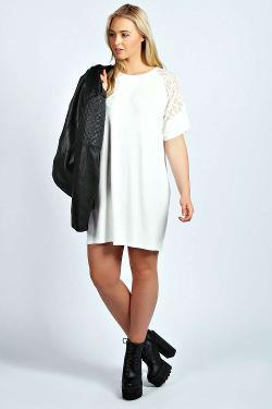 Lara  - Lace Detail T-shirt Dress