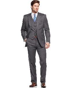 Ralph Lauren  - Suit Charcoal Solid Vested