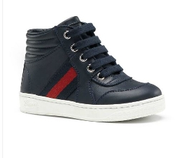 Gucci - Microguccissma Leather High-Top Sneakers