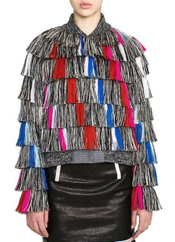 Marco de Vincenzo  - Multicolor Fringed Bomber Jacket