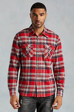 True Religion - Hand Picked Utility Flannel Mens Shirt
