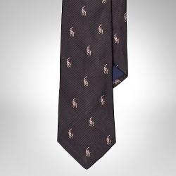 Ralph Lauren - Pony Silk Repp Tie