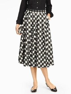 Talbots - Buffalo Check Midi Full Skirt