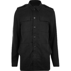 River Island - Black Minimal Military Jacket