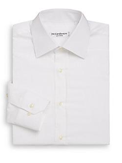 Yves Saint Laurent  - Regular-Fit Tonal Stripe Cotton Dress Shirt