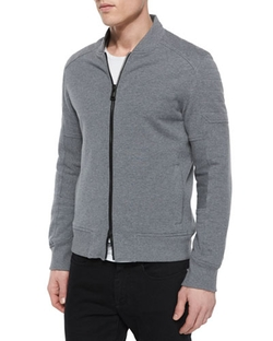 Belstaff- - Deveron Moto Zip-Up Fleece Jacket