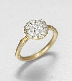 John Hardy  - Bamboo Diamond Round Ring