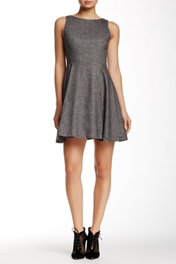 Alice + Olivia - Jorah V-Back Wool Blend Dress