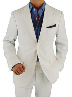 Bianco Brioni - Modern Fit Side-Vent Linen Suit