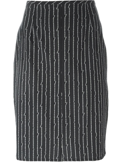 Jean Paul Gaultier Vintage   - Bone Print Pencil Skirt
