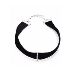 Jennifer Zeuner Jewelry  - Ivy Jessie White Sapphire & Velvet Choker