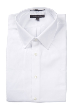 Nordstrom Rack  - Solid Trim Fit Stripe French Cuff Dress Shirt