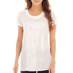 A.N.A. - Short-Sleeve Sequin-Panel T-Shirt