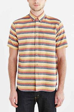 Jed & Marne - Andy Stripe Short-Sleeve Button-Down Shirt