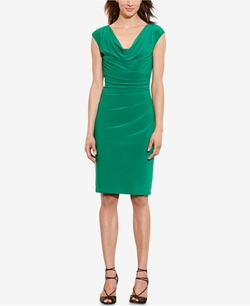 Lauren Ralph Lauren  - Jersey Cowl-Neck Dress