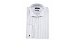 Boss Hugo Boss  - Jaiden Slim-Fit Track-Stripe French-Cuff Dress Shirt