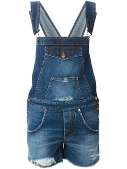 + People - Denim Short Dungaree