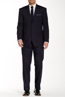 Marc New York  - Woven Two Button Notch Lapel Wool Suit