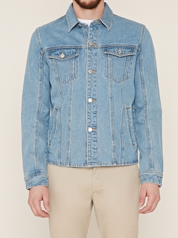 21 Men - Flap-Pocket Denim Jacket