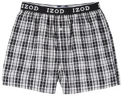 Izod - Woven Plaid Boxer Shorts