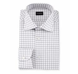 Ermenegildo Zegna - Large Box-Check Dress Shirt