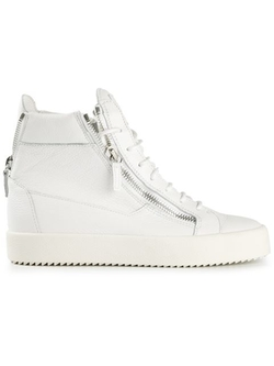 Giuseppe Zanotti  - Design Zip Detail Hi-Top Sneakers